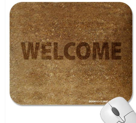 Welcome-mouse-pad