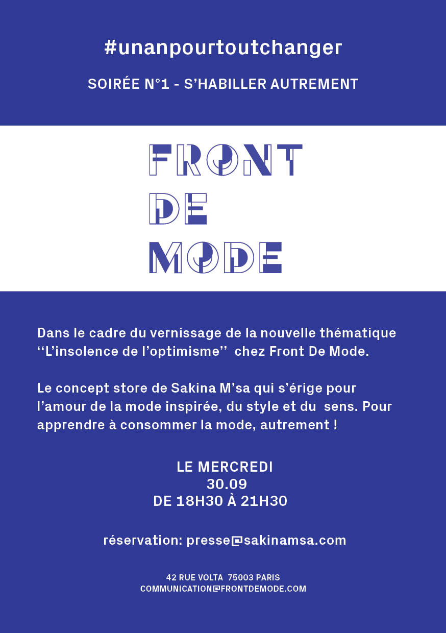invitation #frontdemode
